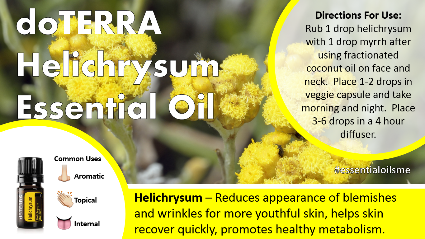 Doterra Helichrysum Essential Oil Uses