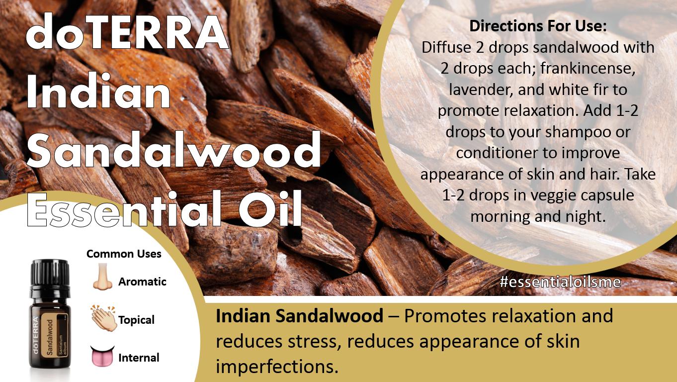 doTERRA Indian Sandalwood Essential Oil Uses