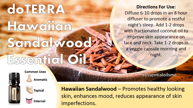 Doterra Hawaiian Sandalwood Essential Oil Uses