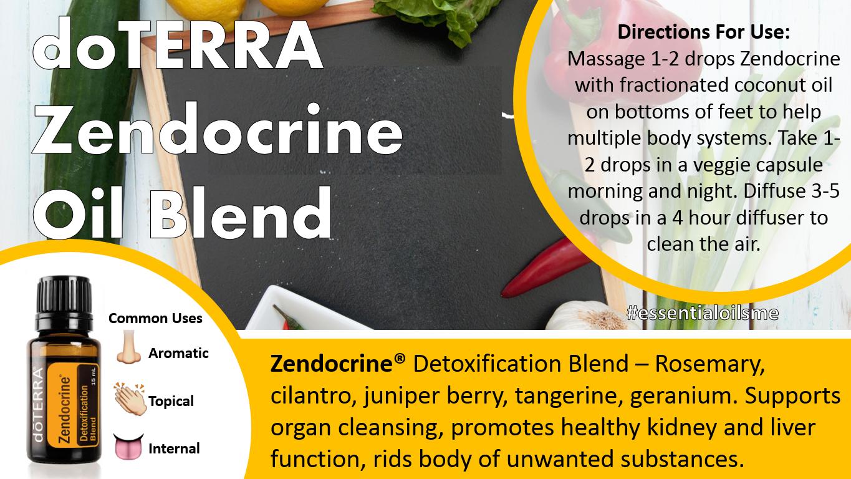 doterra zendocrine oil blend