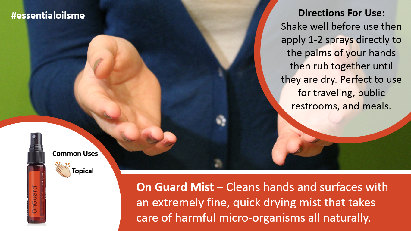 doterra On Guard Sanitizer Spray for hand cleaning